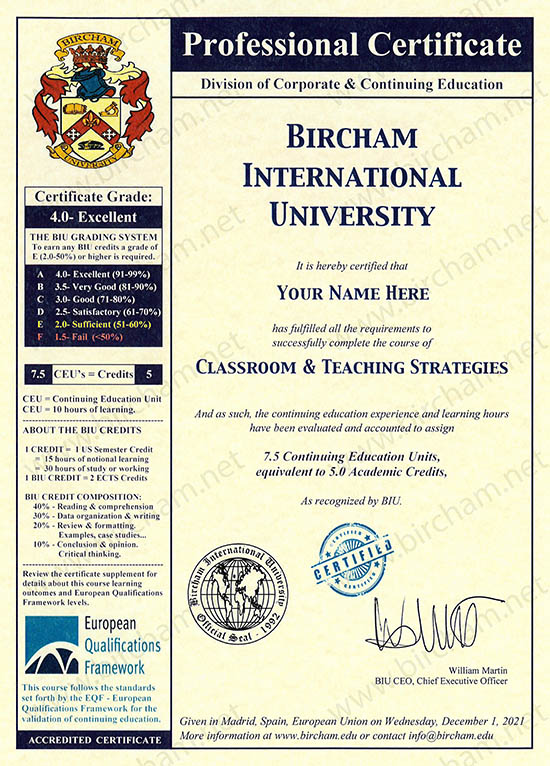Educação Continuada Bircham International University